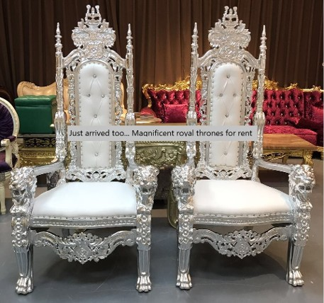 Silver and white lion Thrones